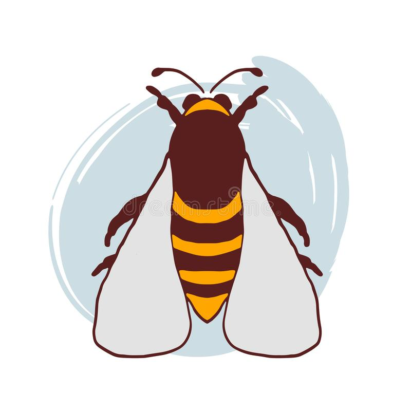 Ręka rysujący doodle pszczoły wektor ilustracji