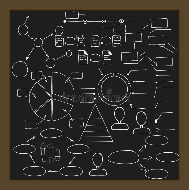 Ręka rysujący infographic elementy Wektorowa kolekcja zdjęcia stock