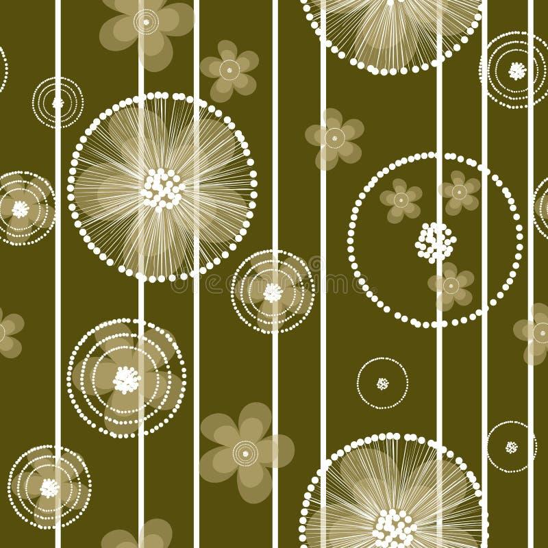 Ręka rysujący jaskier kwitnie i lampasy na oliwnym tle royalty ilustracja