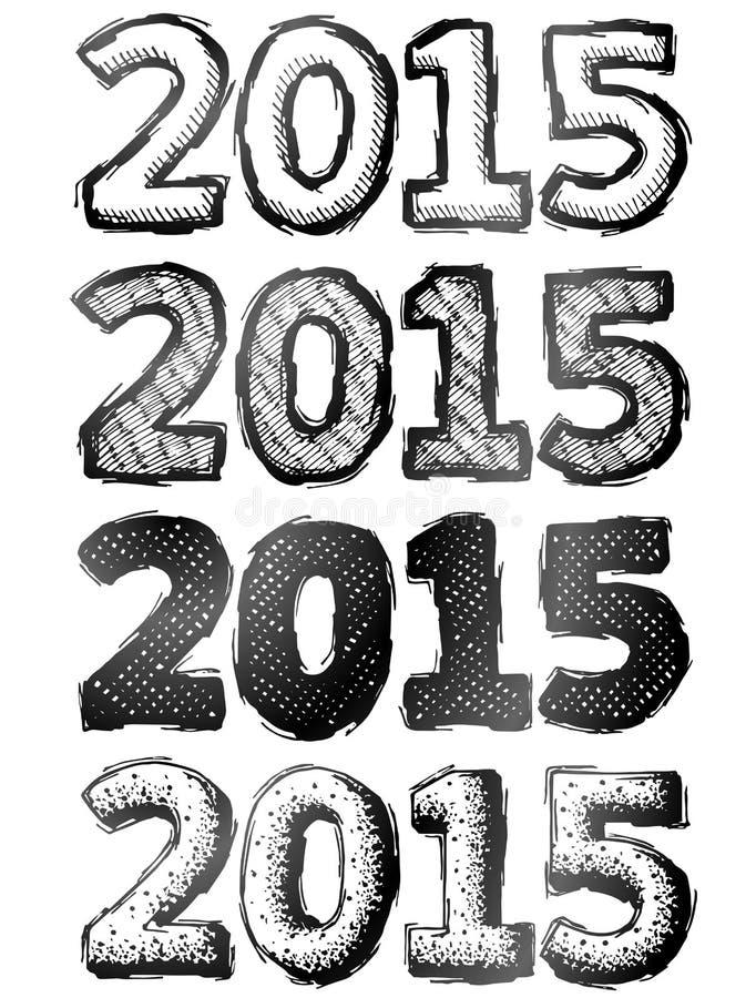 Ręka rysujący nowy rok 2015 ilustracji