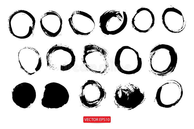 Ręka rysujący okręgi, loga projekta elementy ilustracji