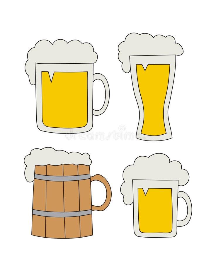 Ręka rysujący piwo ilustracji