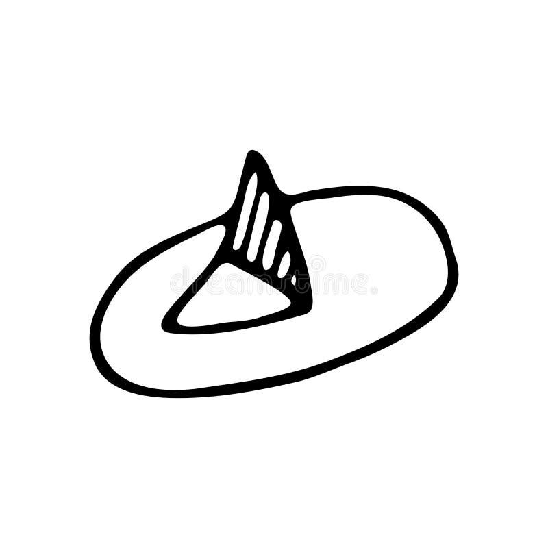 Ręka rysujący rysunkowej szpilki doodle Nakreślenie Z powrotem szkoła, ikona odszyfrowywa ilustracja wektor