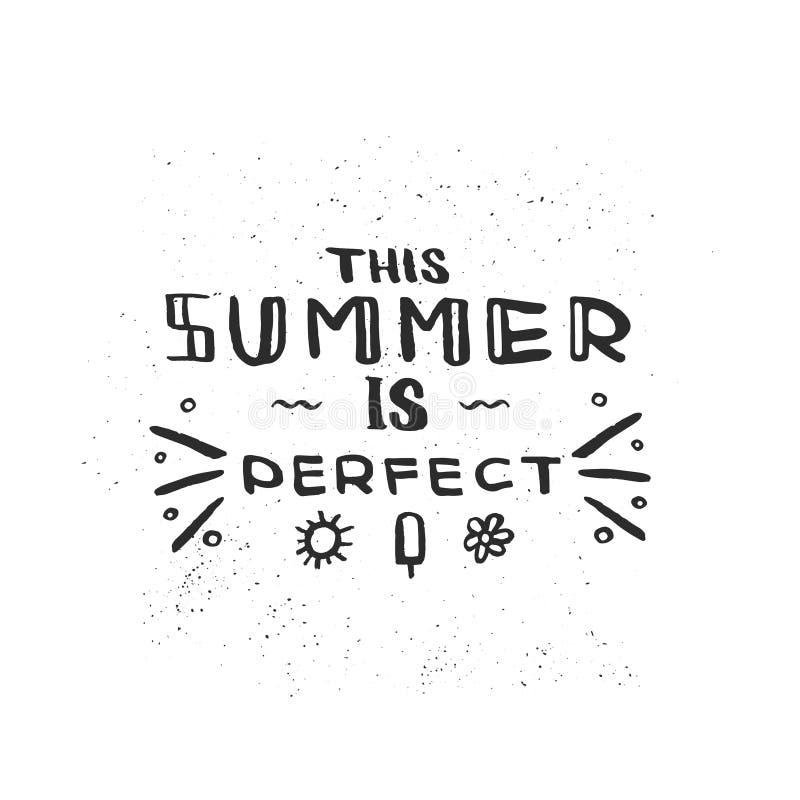 Ręka rysujący szczotkarski literowanie zwrot Ten lato jest perfect Doskonalić dla wakacje, agencja podróży, lata przyjęcie zdjęcia royalty free