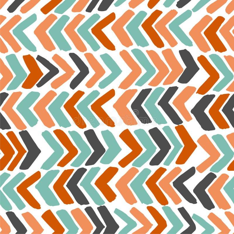 Ręka rysujący szewron kolorowe tła abstrakcyjne ilustracja wektor