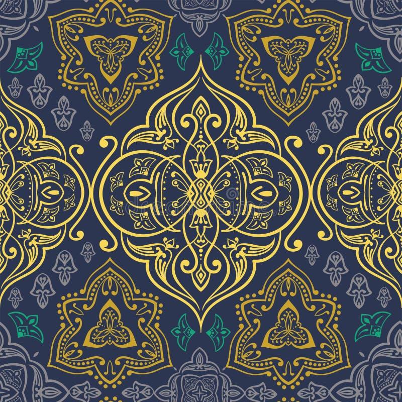 Ręka rysujący wektorowy etniczny ornamentacyjny bezszwowy wzór royalty ilustracja