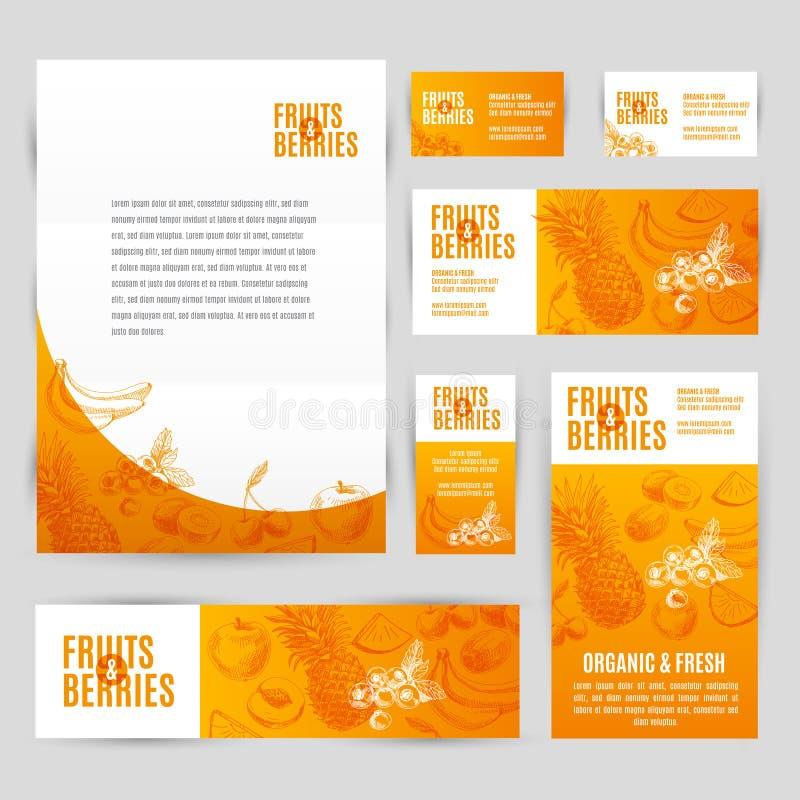 Download Ręka Rysujący Wektorowy Korporacyjny Szablon Ustawiający Z Ilustracja Wektor - Ilustracja złożonej z zdrowy, świeży: 57674910