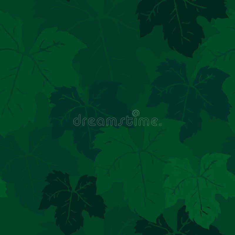 Ręka rysujący winogrono liści wzór ilustracja wektor