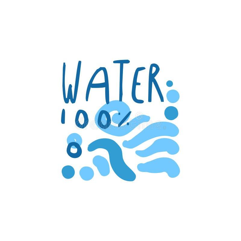 Ręka rysujący znaki czyste wodne fala dla loga teksta ilustracja wektor