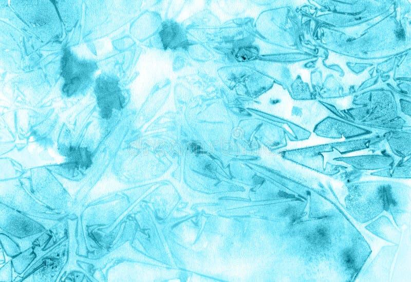 Ręka rysuje błękitnego tło ilustracja wektor