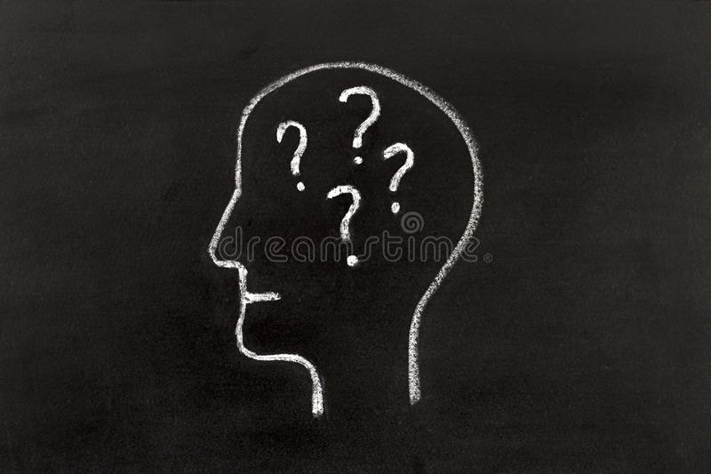 Ręka rysuje ludzkiej głowy kształt ilustracja wektor
