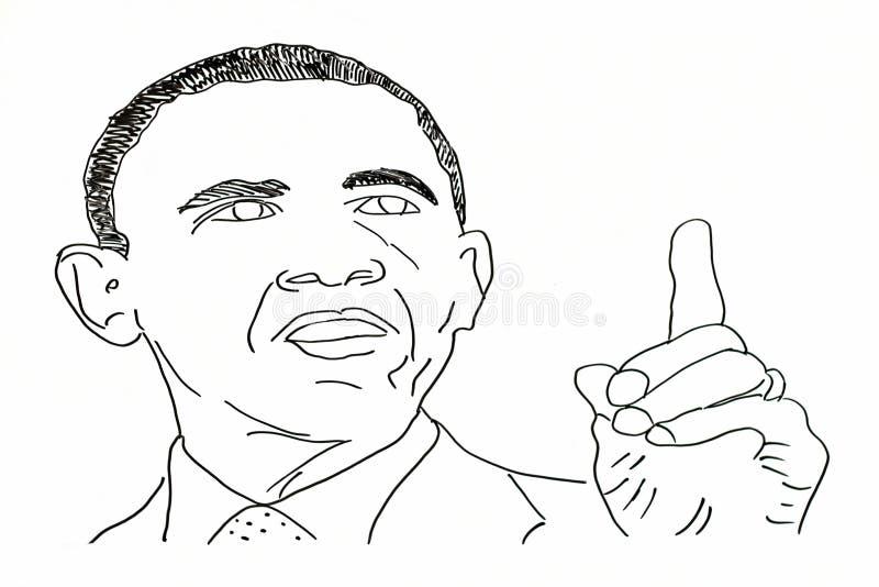Ręka rysunek amerykańscy politycy royalty ilustracja