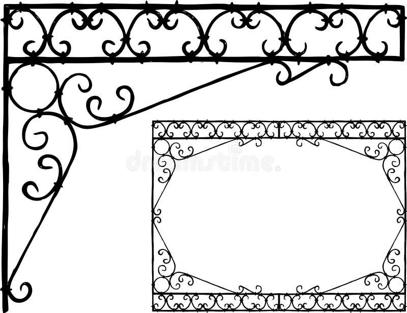 Ręka rysunek dekoracyjny architektoniczny szczegół royalty ilustracja