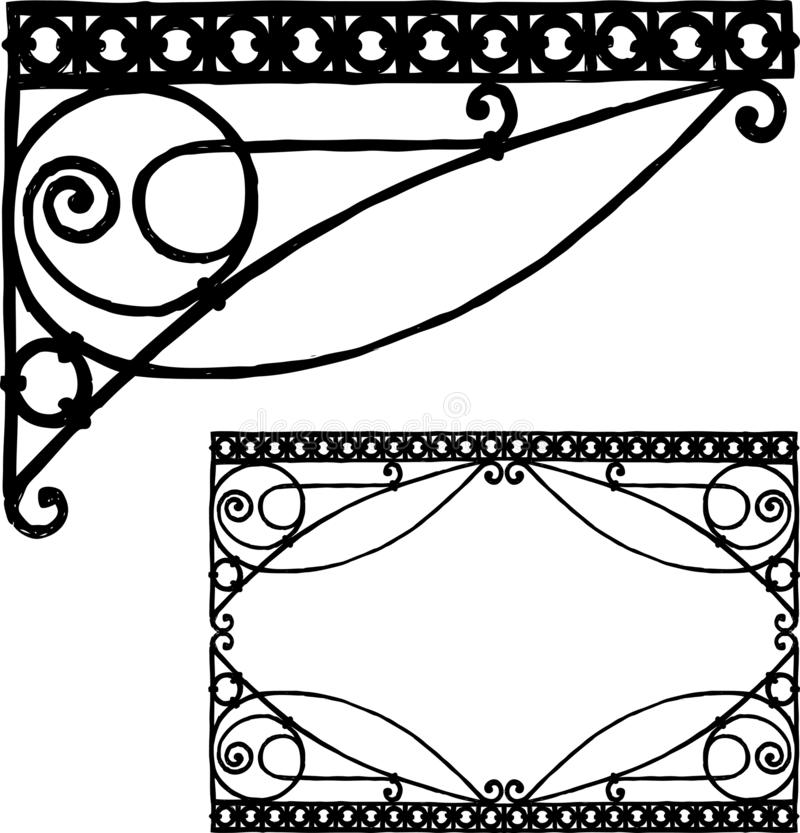 Ręka rysunek rocznika architektoniczny szczegół royalty ilustracja