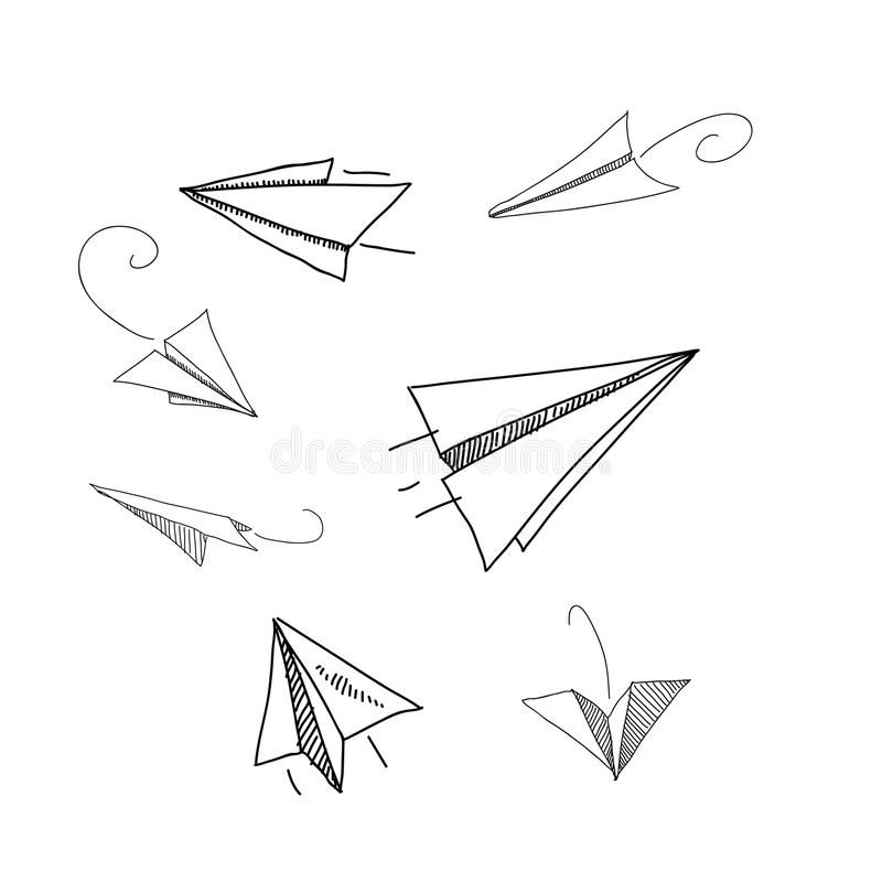 Ręka rysunkowego papieru płaskiego wektoru ilustracje royalty ilustracja