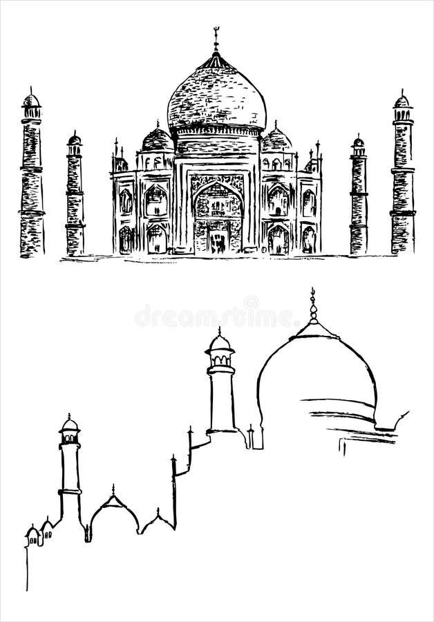 ręka rysunkowy meczet royalty ilustracja