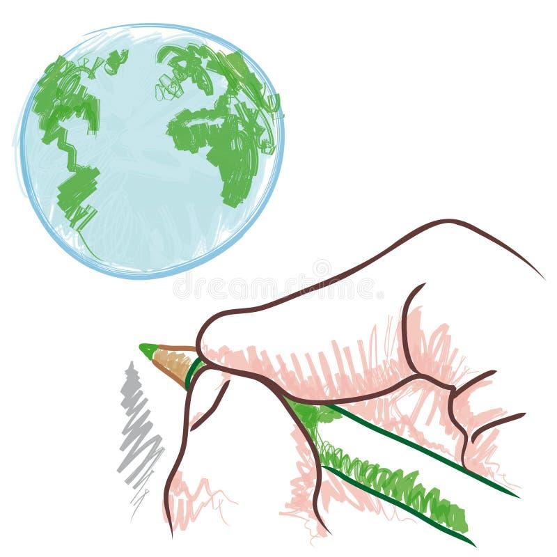 ręka rysunkowy wektor ilustracji