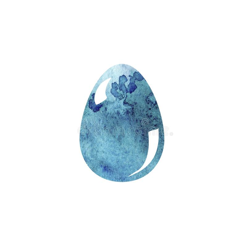 Ręka rysunku muśnięcia kolorowa ilustracja Wielkanocny jajko z akwarelami Graficzny projekt z białym tłem Wielkanoc tła piękna pl royalty ilustracja