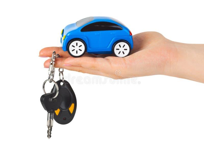 ręka samochodowi klucze fotografia royalty free