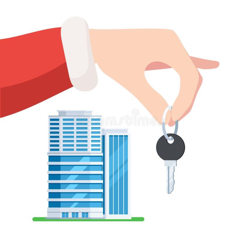 Ręka Santa z kluczem mieszkanie royalty ilustracja