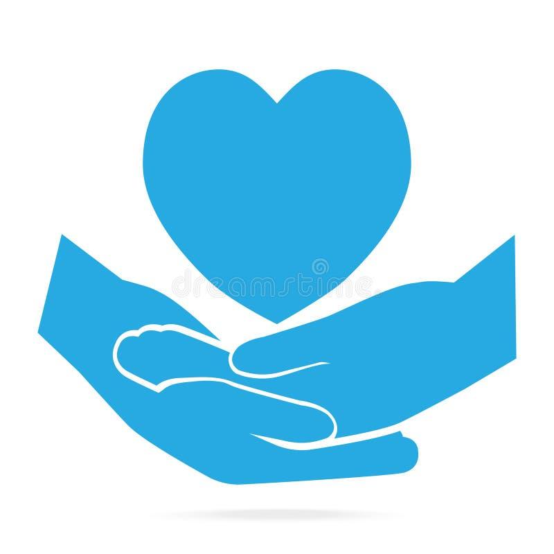 Ręka spinał błękitną ikony ilustrację ilustracji