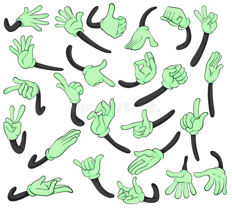 Ręka sygnały royalty ilustracja