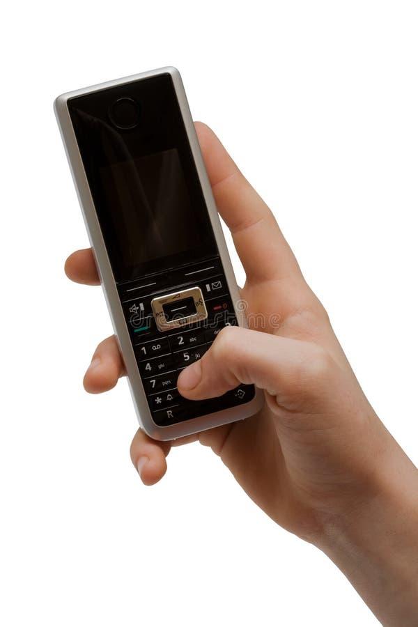 ręka telefon obraz royalty free