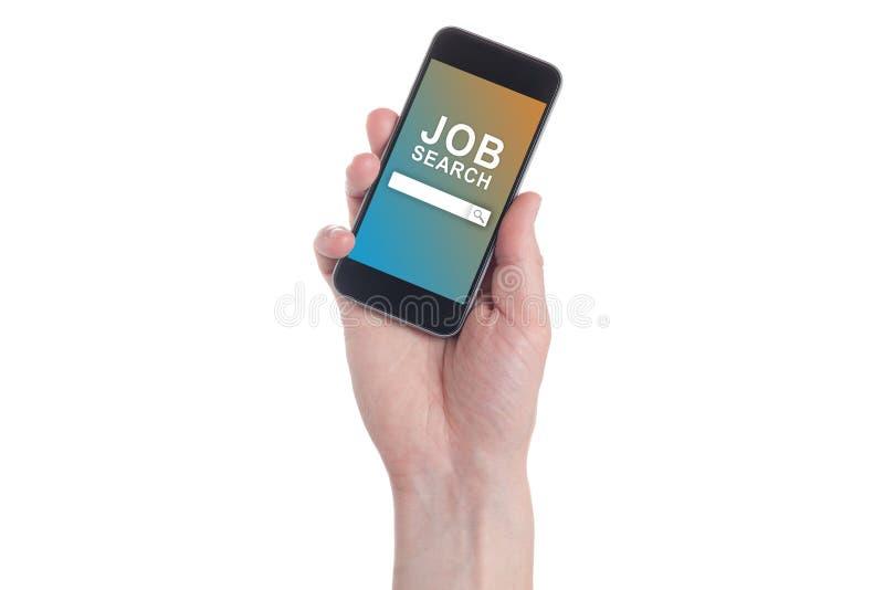Ręka trzyma czarnego Smartphone z zdjęcia stock