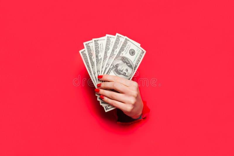 Ręka trzyma dolarowych banknoty obraz royalty free