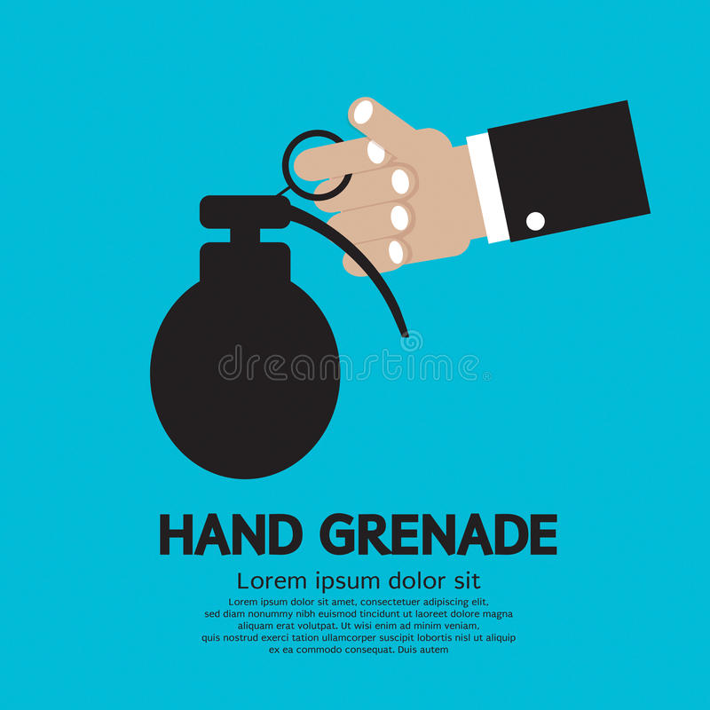 Ręka Trzyma granat. royalty ilustracja
