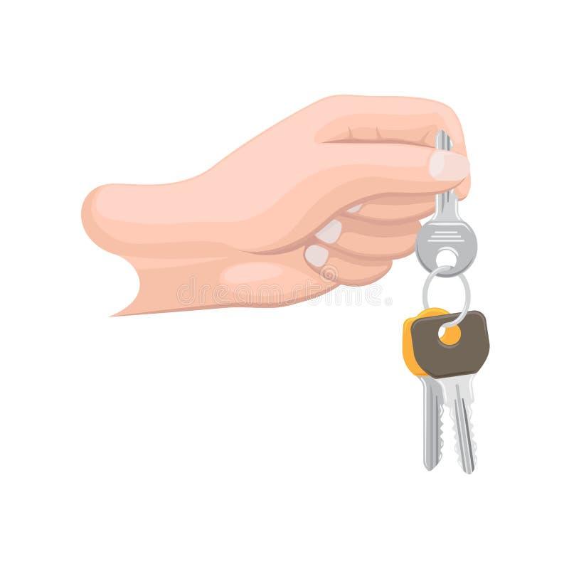 Ręka Trzyma wiązkę Ilustracyjna klucze royalty ilustracja