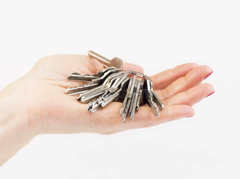Ręka trzymający klucz zdjęcia stock