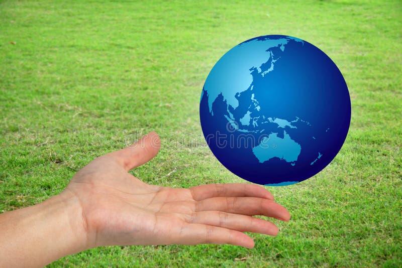 ręka twój świat obraz royalty free