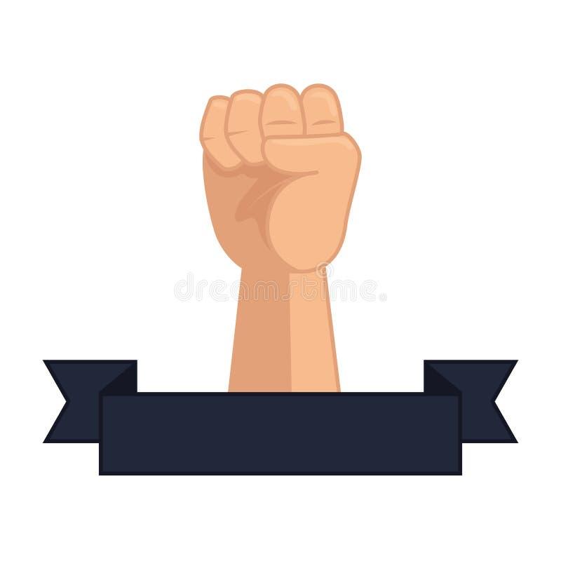 Ręka w górę pięści ikony ilustracji