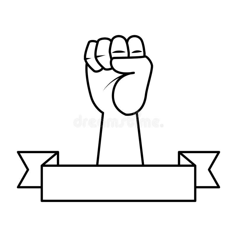 Ręka w górę pięści ikony royalty ilustracja