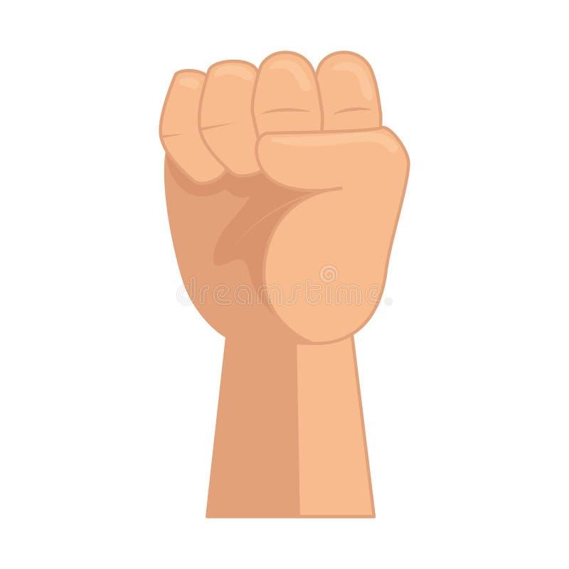 Ręka w górę pięści ikony ilustracja wektor