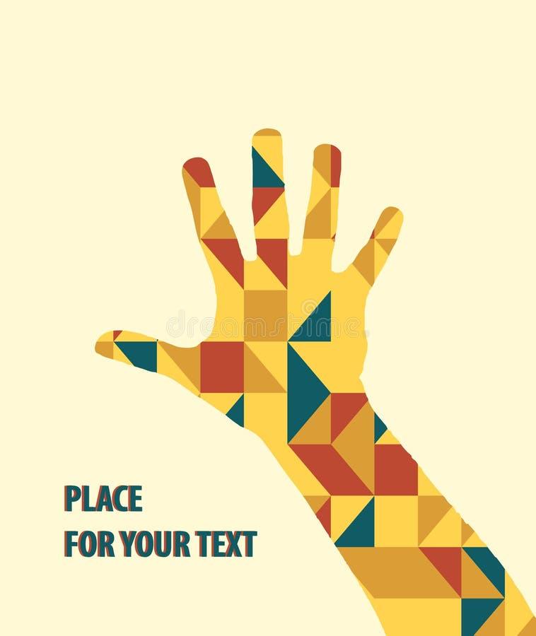 Download Ręka Wektor Nad Trójboka Tłem Ilustracja Wektor - Ilustracja złożonej z ikona, ręka: 53790757
