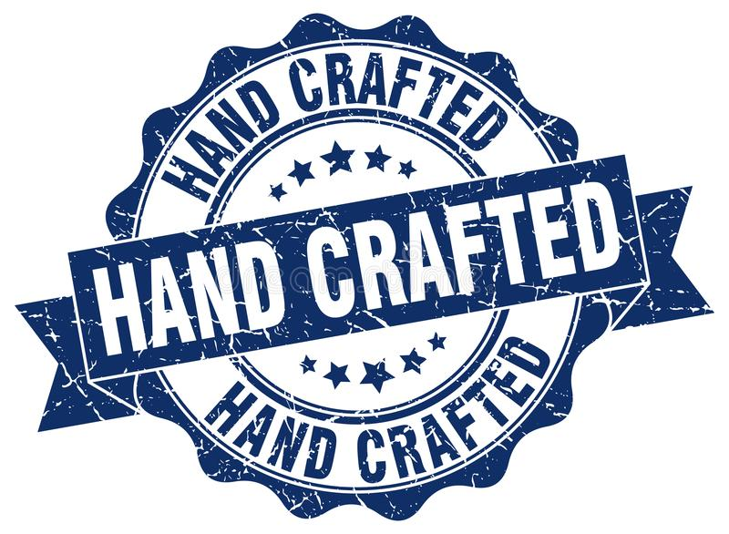 Ręka wykonujący ręcznie znaczek royalty ilustracja