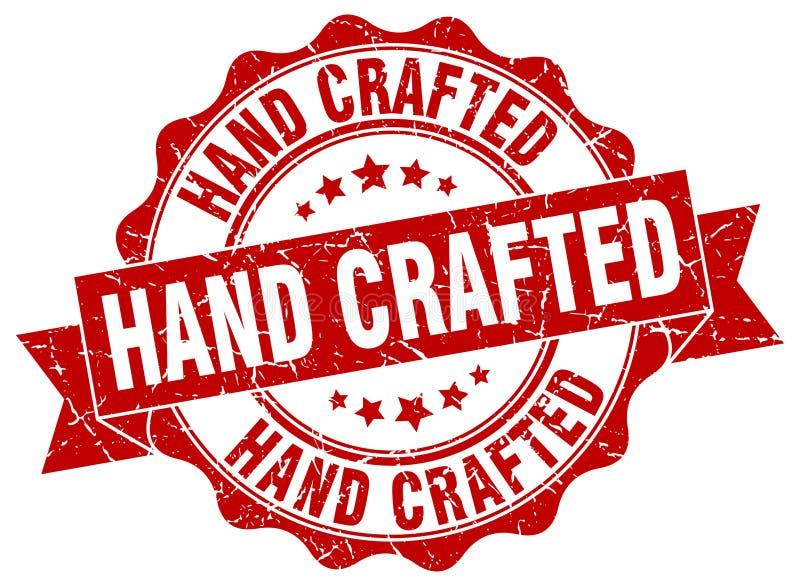 Ręka wykonujący ręcznie znaczek ilustracji