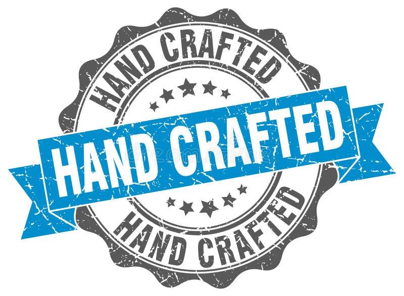 Ręka wykonujący ręcznie znaczek ilustracja wektor