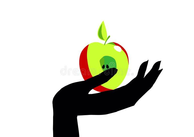 Ręka z Apple royalty ilustracja