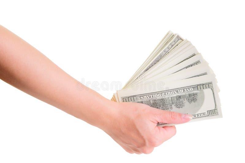 Ręka z dolarami obrazy royalty free