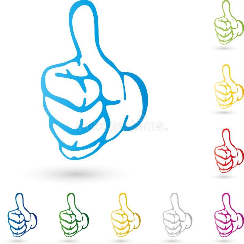 Ręka z kciukiem up, ręka logo ilustracja wektor