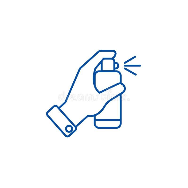 Ręka z kiści linii ikony pojęciem Ręka z kiść płaskim wektorowym symbolem, znak, kontur ilustracja ilustracja wektor