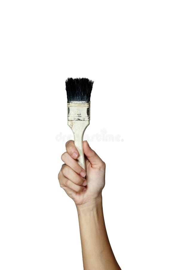 Ręka z muśnięciem zdjęcie stock
