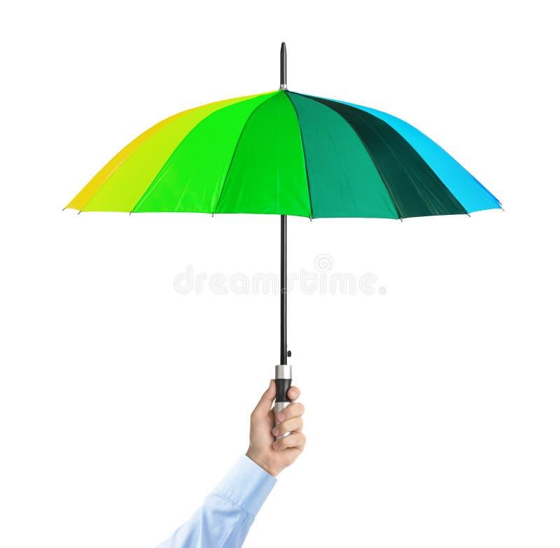 Ręka z parasolem zdjęcie stock