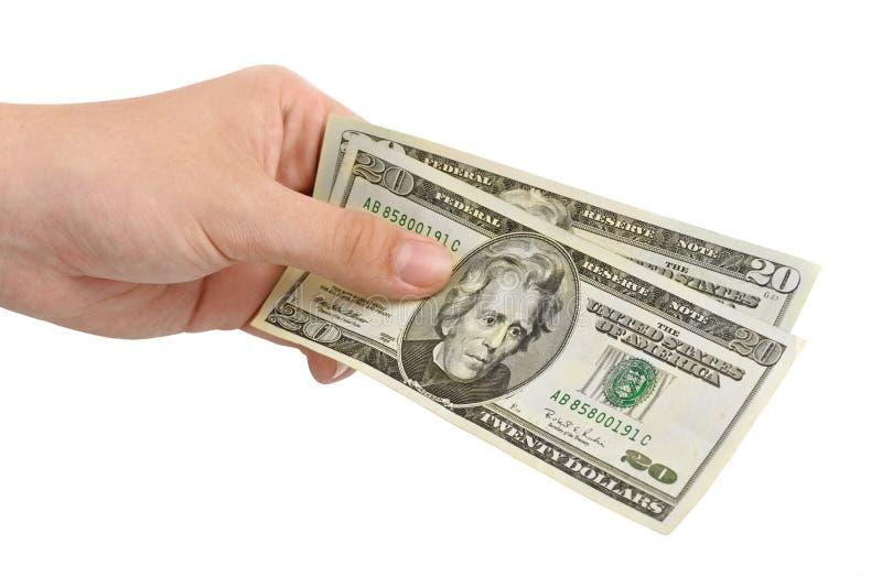 Ręka z pieniądze zdjęcie royalty free