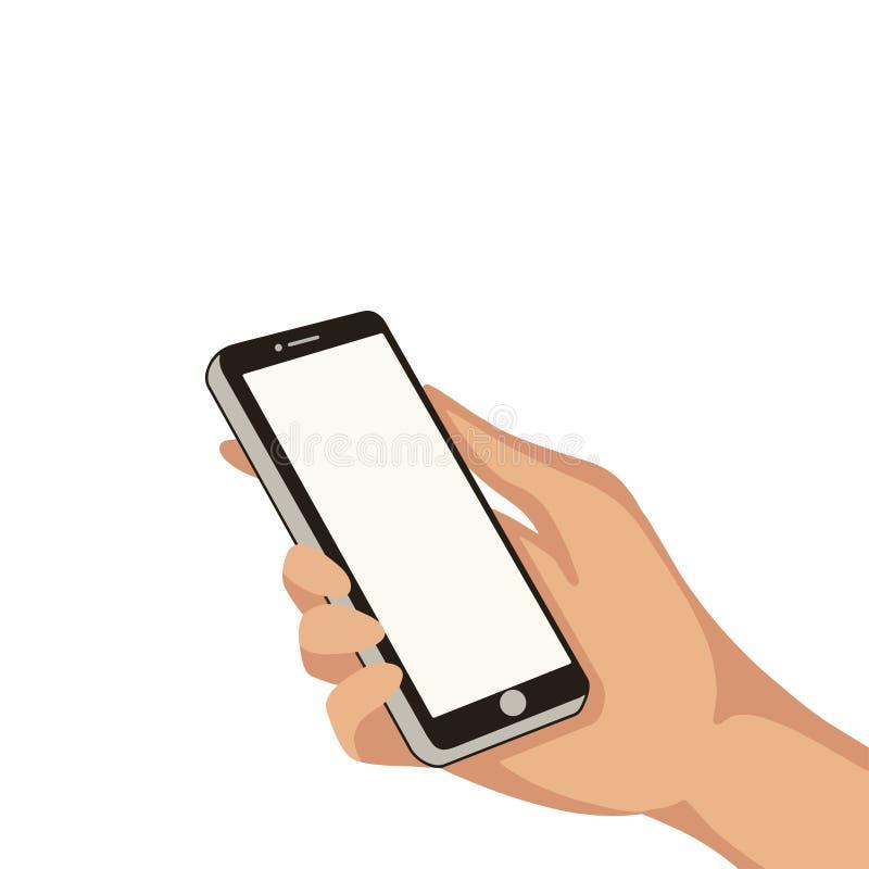 Ręka z telefonem komórkowym fotografia stock