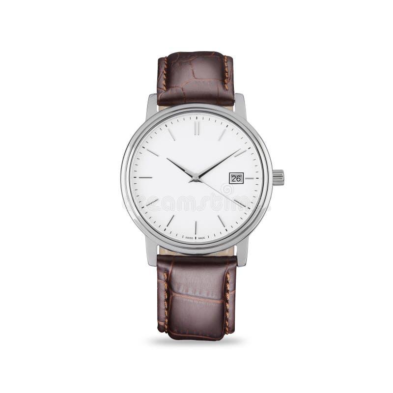 Ręka zegarek na białym tle fotografia stock