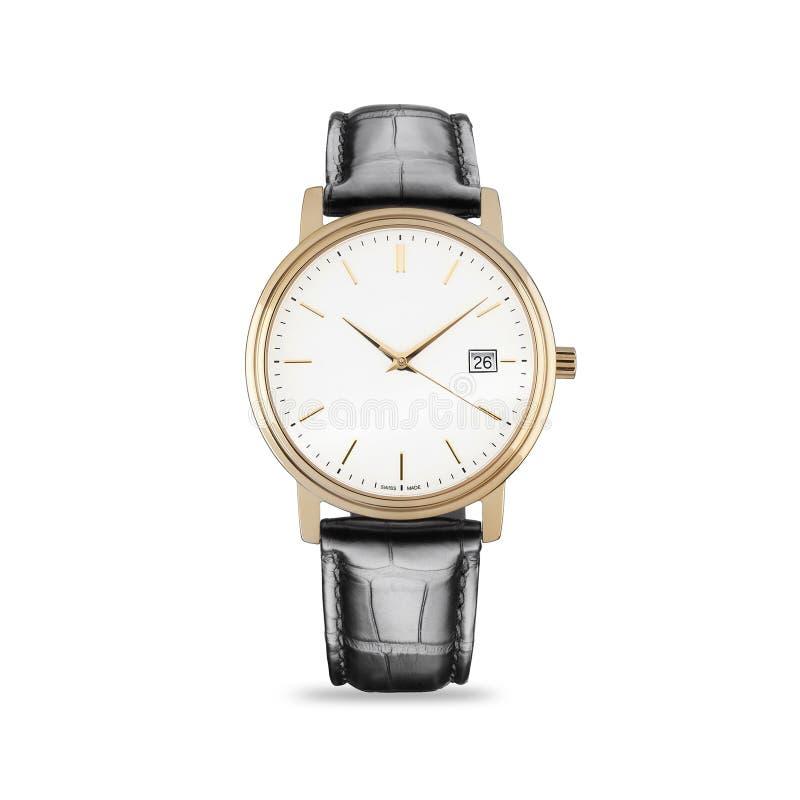 Ręka zegarek na białym tle zdjęcia royalty free